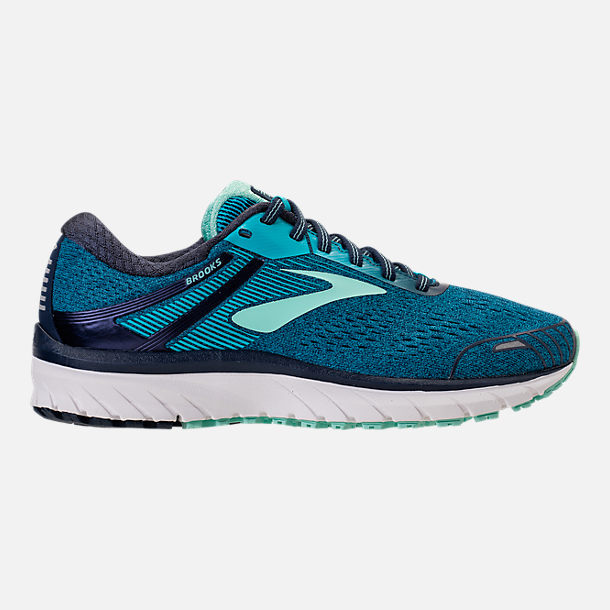 Right view of Women's Brooks Adrenaline GTS 18 Wide Width Running Shoes in Navy/Teal/Mint