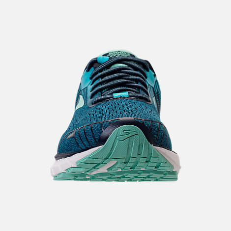 Front view of Women's Brooks Adrenaline GTS 18 Wide Width Running Shoes in Navy/Teal/Mint