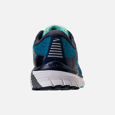 Back view of Women's Brooks Adrenaline GTS 18 Wide Width Running Shoes in Navy/Teal/Mint