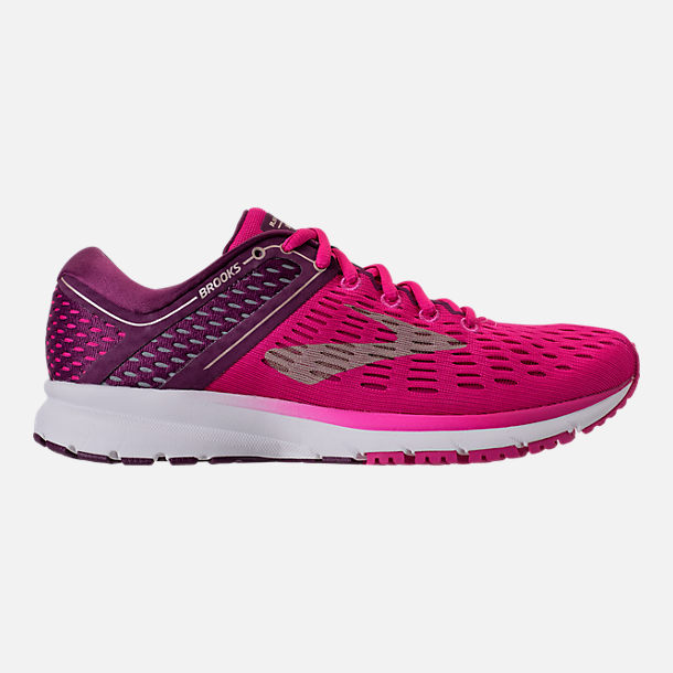 Right view of Women's Brooks Ravenna 9 Running Shoes in Pink/Plum/Champagne