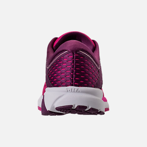 Back view of Women's Brooks Ravenna 9 Running Shoes in Pink/Plum/Champagne