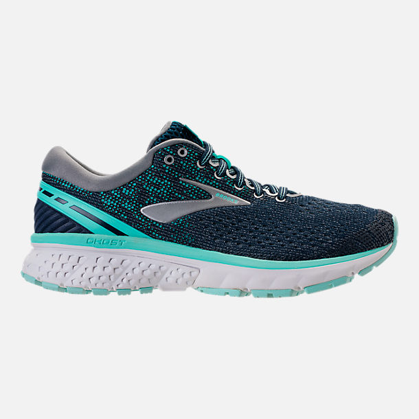 d24d8e81ddb4b Right view of Women s Brooks Ghost 11 Running Shoes in Navy Grey Blue