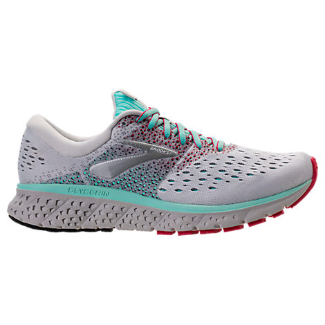 Brooks WOMEN'S GLYCERIN 16 RUNNING SHOES, WHITE/RED - SIZE 9.0