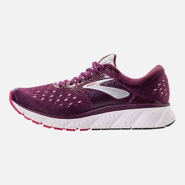 Left view of Women's Brooks Glycerin 16 Running Shoes in Purple/Pink/Grey
