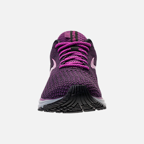 Front view of Women's Brooks Revel 2 Running Shoes in Black/Purple/Grey