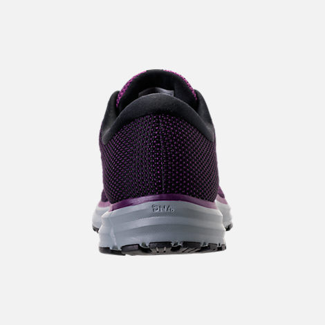 Back view of Women's Brooks Revel 2 Running Shoes in Black/Purple/Grey