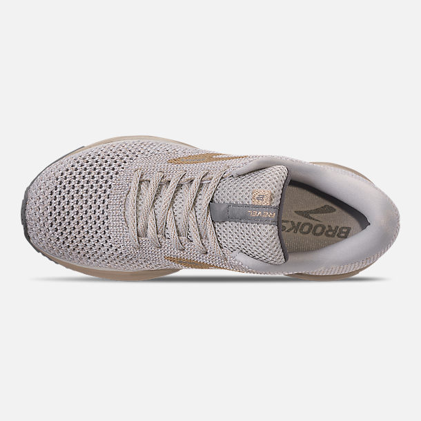 f7d6f833218 Top view of Women s Brooks Revel 2 Running Shoes in White Champagne