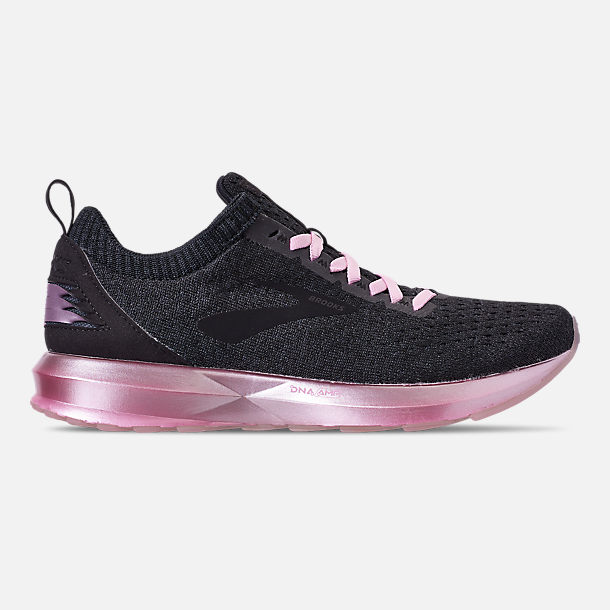 Right view of Women's Brooks Levitate 2 LE Running Shoes in Black/Grey/Rose