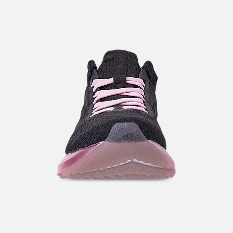 Front view of Women's Brooks Levitate 2 LE Running Shoes in Black/Grey/Rose
