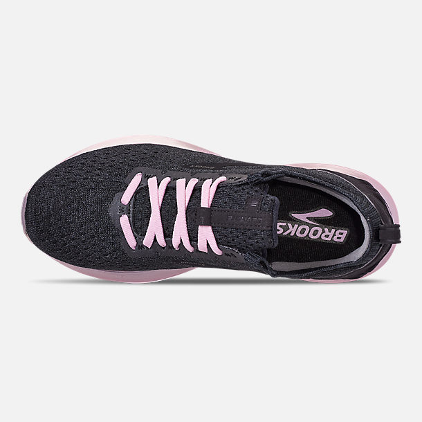 Top view of Women's Brooks Levitate 2 LE Running Shoes in Black/Grey/Rose