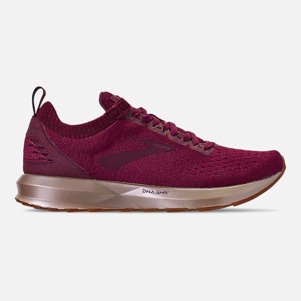 Right view of Women's Brooks Levitate 2 LE Running Shoes in Fig/Sangria/Metallic