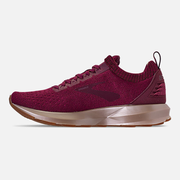 Left view of Women's Brooks Levitate 2 LE Running Shoes in Fig/Sangria/Metallic