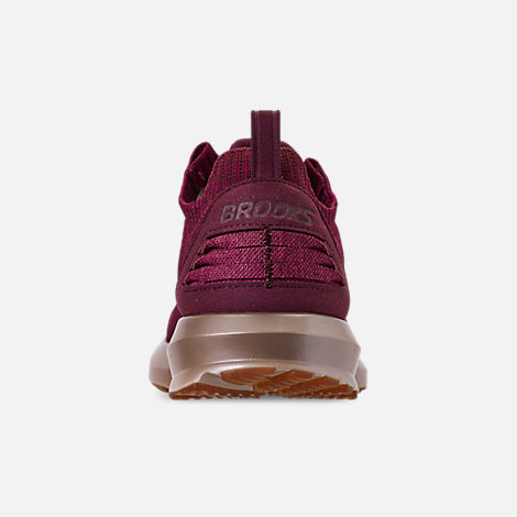 Back view of Women's Brooks Levitate 2 LE Running Shoes in Fig/Sangria/Metallic