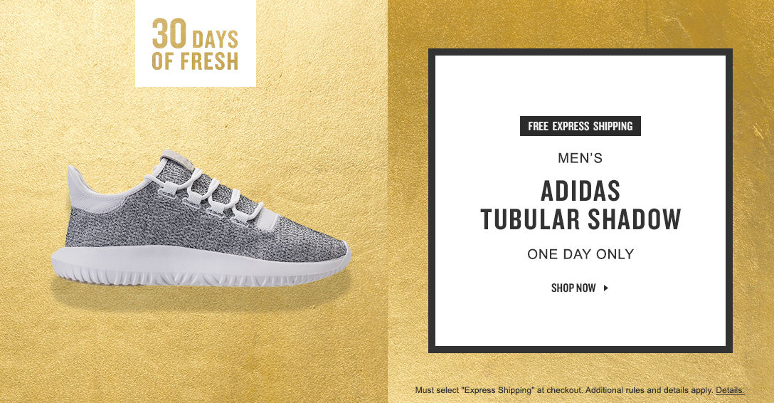 Free Express Shipping on Men\u0027s adidas Tubular Shadow. Today Only.