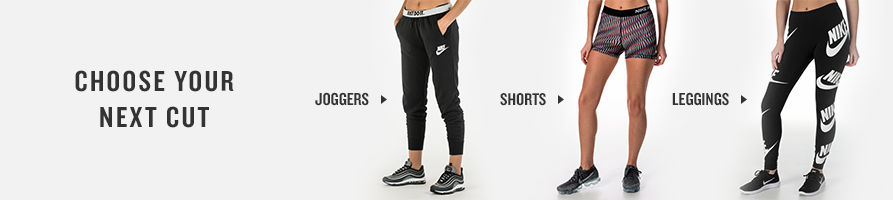 Shop Women's Joggers, Shorts, and Leggings.