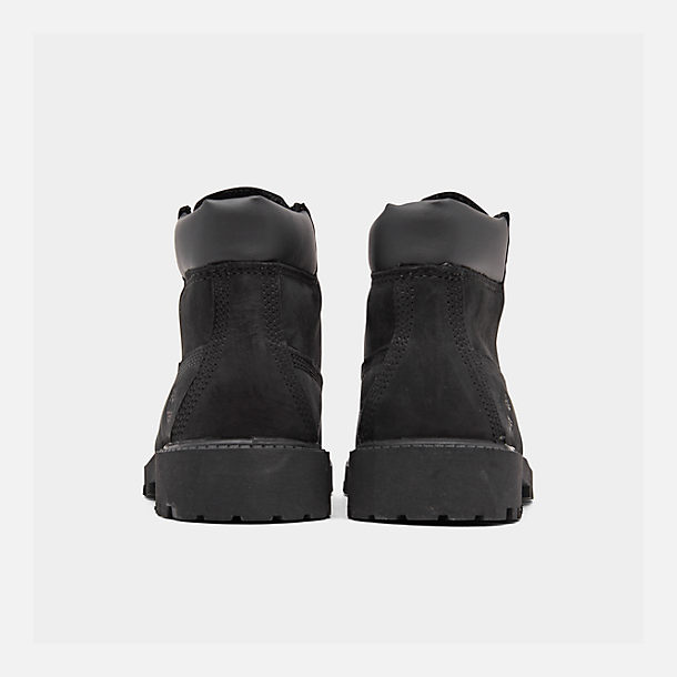 Left view of Kids' Preschool Timberland 6 Inch Classic Boots in Black