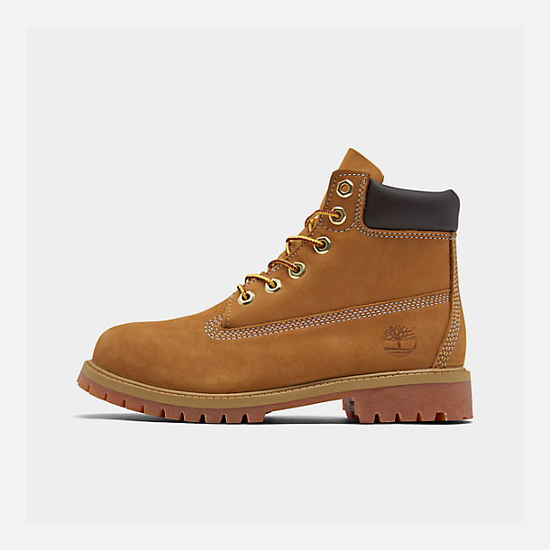 Right view of Kids' Preschool Timberland 6 Inch Classic Boots in Wheat