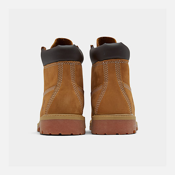 Left view of Kids' Preschool Timberland 6 Inch Classic Boots in Wheat