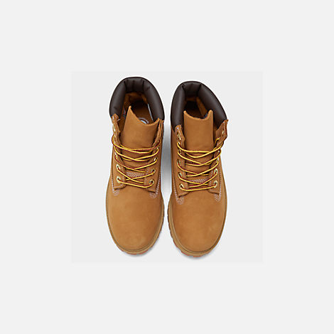 Back view of Kids' Preschool Timberland 6 Inch Classic Boots in Wheat