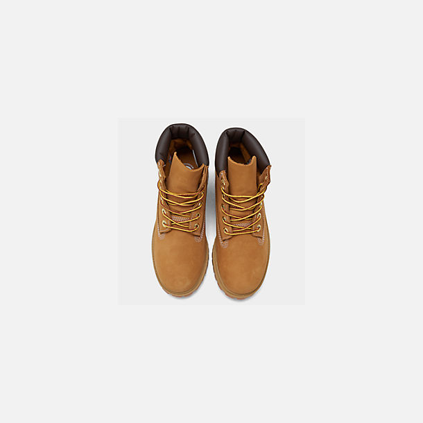 Back view of Little Kids' Timberland 6 Inch Classic Boots in Wheat