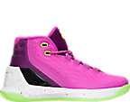 Girls' Grade School Under Armour Curry 3 Basketball Shoes