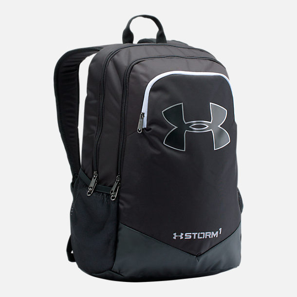 Front view of Boys' Under Armour Scrimmage Backpack in Black
