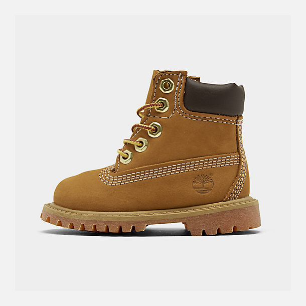 Right view of Kids' Toddler Timberland 6 Inch Classic Boots in Wheat