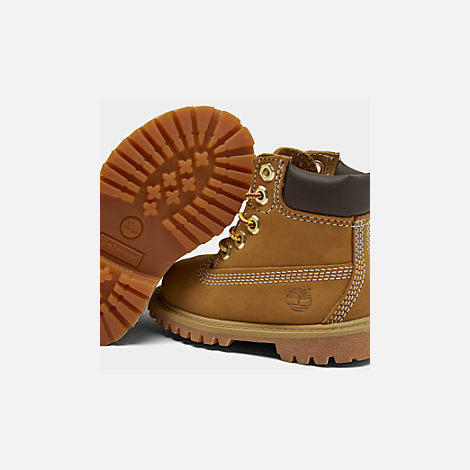 Front view of Kids' Toddler Timberland 6 Inch Classic Boots in Wheat
