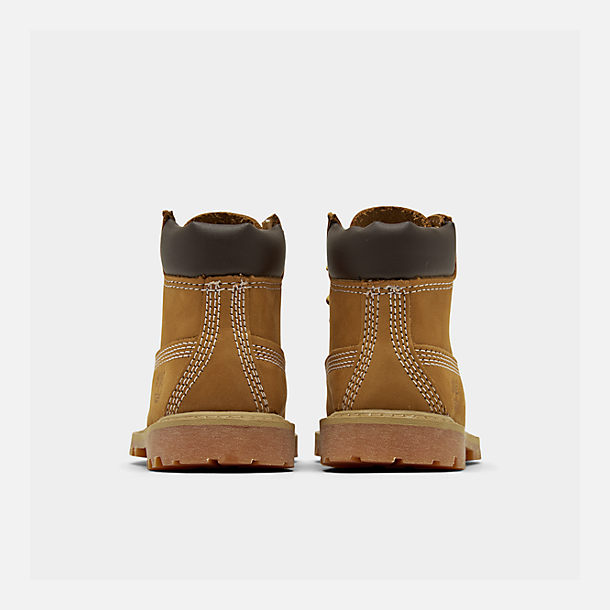 Left view of Kids' Toddler Timberland 6 Inch Classic Boots in Wheat