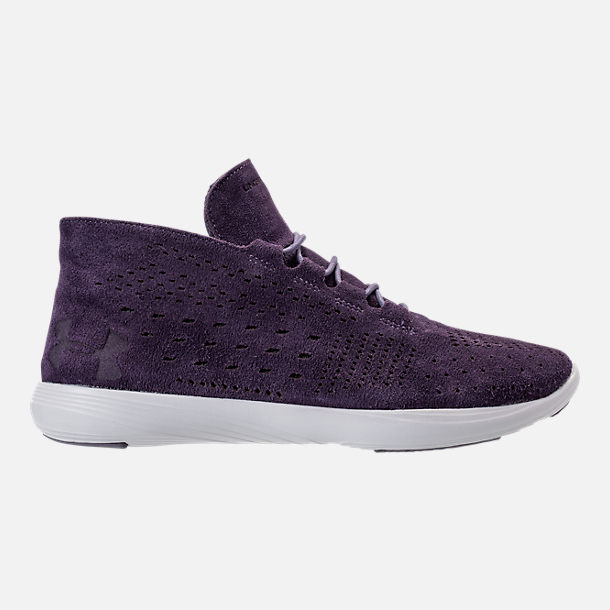 Right view of Women's Under Armour Street Precision Mid Tinted Casual Shoes in Imperial Purple/Elemental