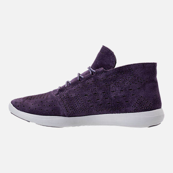 Left view of Women's Under Armour Street Precision Mid Tinted Casual Shoes in Imperial Purple/Elemental