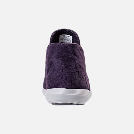 Back view of Women's Under Armour Street Precision Mid Tinted Casual Shoes in Imperial Purple/Elemental