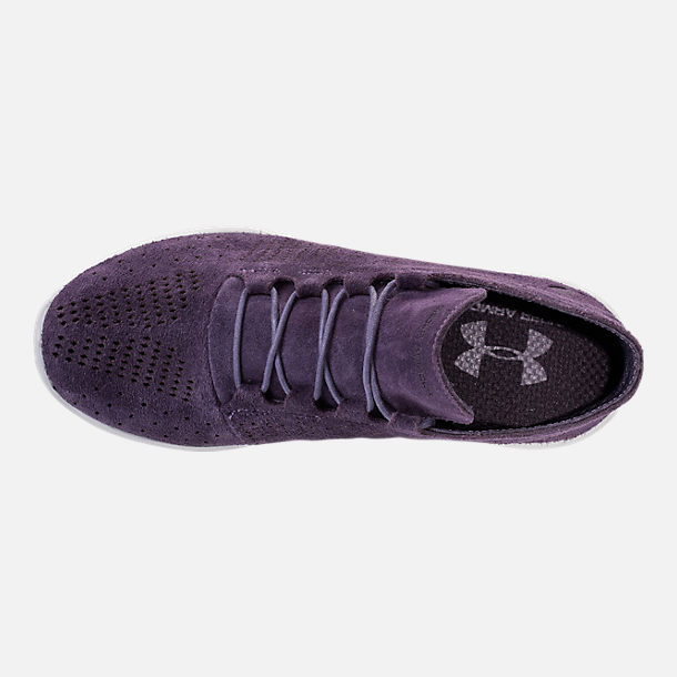 Top view of Women's Under Armour Street Precision Mid Tinted Casual Shoes in Imperial Purple/Elemental