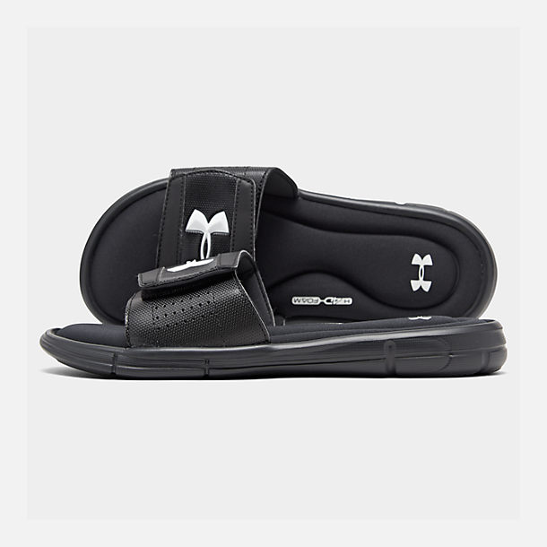 7c682082152 Right view of Men s Under Armour Ignite V Slide Sandals in Black White