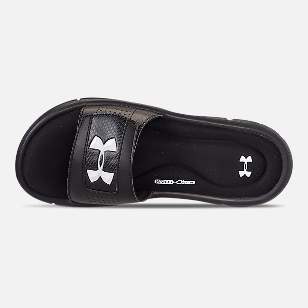fda509f94b9 Top view of Men s Under Armour Ignite V Slide Sandals in Black White.  Ratings   Reviews