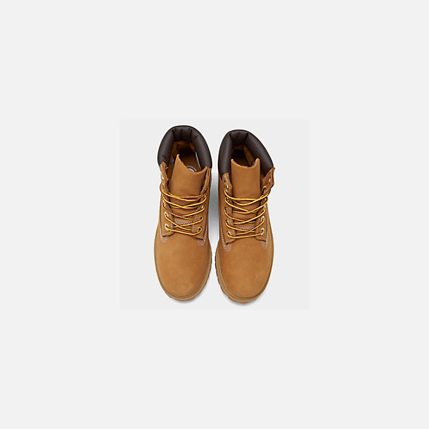 Back view of Big Kids' Timberland 6 Inch Classic Boots in Wheat
