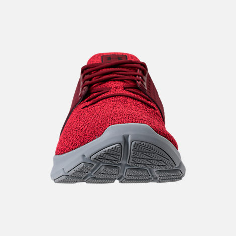 Front view of Men's Under Armour Threadborne Slingwrap Running Shoes in Marathon Red/Overcast Grey/Black