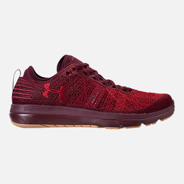 Right view of Men's Under Armour Threadborne Fortis Running Shoes in Dark Maroon/Cardinal/Spice Red