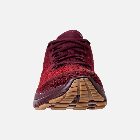 Front view of Men's Under Armour Threadborne Fortis Running Shoes in Dark Maroon/Cardinal/Spice Red