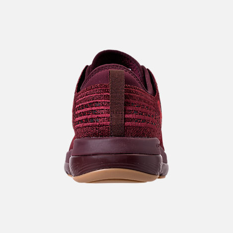 Back view of Men's Under Armour Threadborne Fortis Running Shoes in Dark Maroon/Cardinal/Spice Red