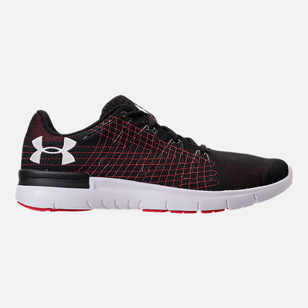 Right view of Men's Under Armour Thrill 3 Running Shoes in Black/White