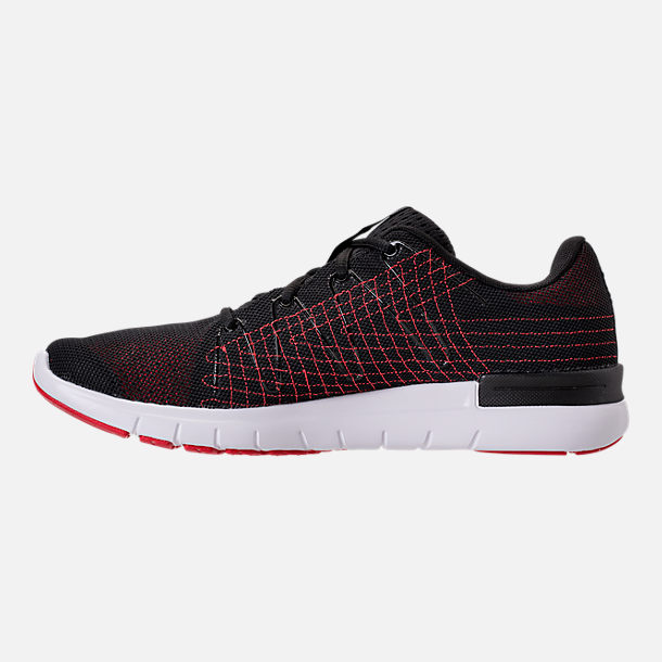 Left view of Men's Under Armour Thrill 3 Running Shoes in Black/White