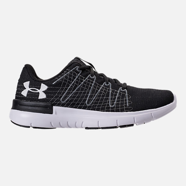 Right view of Women's Under Armour Thrill 3 Running Shoes in Black/White