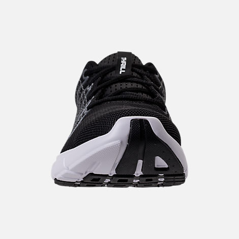 Front view of Women's Under Armour Thrill 3 Running Shoes in Black/White