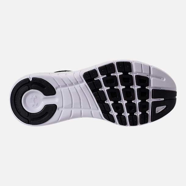 Bottom view of Women's Under Armour Thrill 3 Running Shoes in Black/White