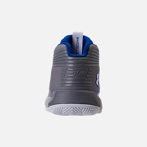 Back view of Boys' Toddler Under Armour Curry 3Zero Basketball Shoes in White/Team Royal