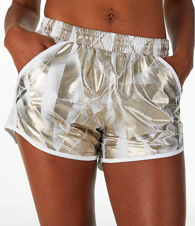 Detail 2 view of Women's Under Armour Fly-By Metallic Printed Running Shorts