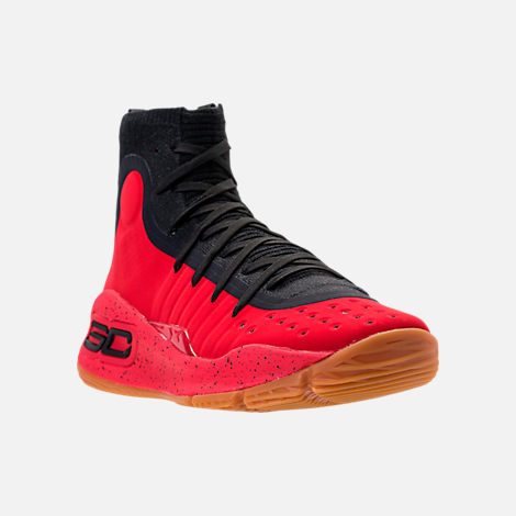 Three Quarter view of Men's Under Armour Curry 4 Basketball Shoes