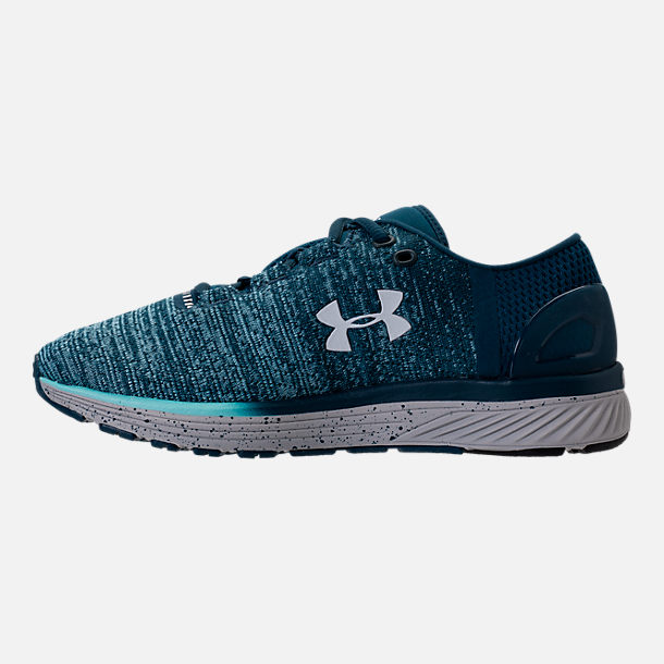Left view of Women's Under Armour Charged Bandit 3 Running Shoes in True Ink/Blue Infinity/White