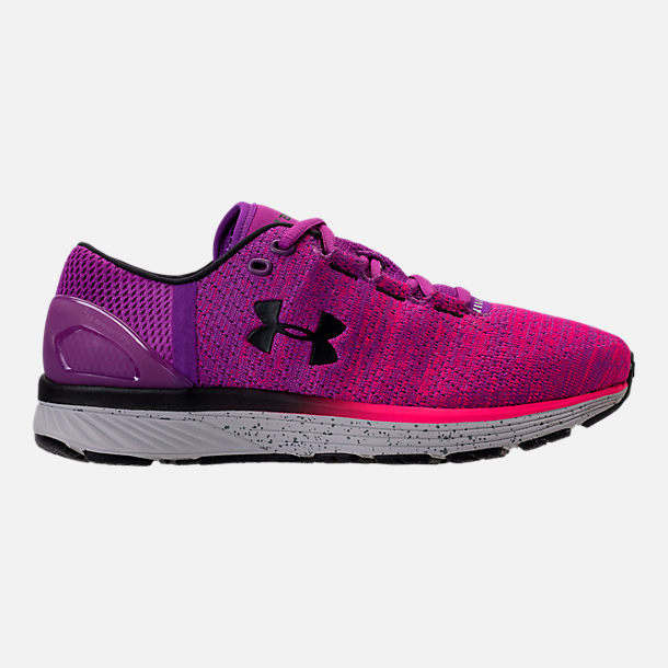 Right view of Women's Under Armour Charged Bandit 3 Running Shoes in Purple Rave/Penta Pink/Black
